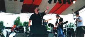 Joe onstage with Levon Helm, Albert Lee, Albert Rogers - Sacket's Harbor NY
