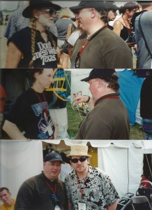 Joe with Willie, Robbie, and Elvis at Woodstock '99