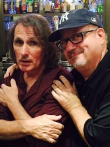 Joe with great pal & legendary Van Morrison drummer Gary Mallaber in Westlake Village, CA