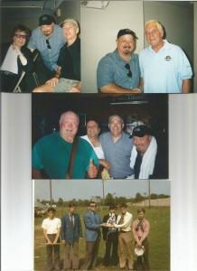 Joe on tour with Bill Wyman, Georgie Fame, Gary Brooker / middle photo Baskerville Hounds Reunion 2009, & bottom: Baskerville Hounds Reunion 1969