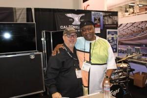 King of all drummers, Bernard Purdie  and Joe at NAMM