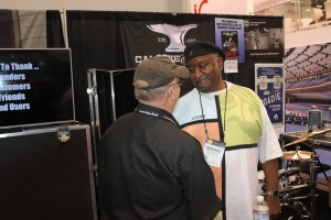 Joe and Bernard sharing tales of the old Lone Star Café in the village while at NAMM.