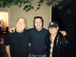 JT Thomas (Bruce Hornsby, Rita Coolidge, Albert Lee) and Austinite Stefeno Intelisano (The Bodeans, Jason Mraz)  and Joe after a recording session in the valley, LA.