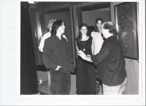 Joe and Jackson Browne at HITS! magazine with Buddha and the crew.