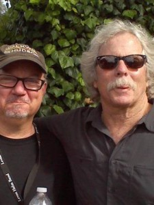Joe with legend Chis Hillman from The Byrds, The Burrito Brothers, Manasas and The Desert Rose Band at the Monterey Fairgrounds.