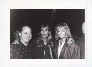 Joe with Joni Mitchell and Rosemary Butler in Santa Monica after Joe's Turbulent Indigo interview and Joni's superb art exhibit.
