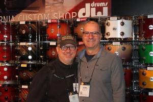 Brilliant drummer ( Larry Carlton, Boz Scaggs, Linda Ronstadt, Rod Stewart , Burt Bacharach) and great friend John Ferraro and  Joe at NAMM