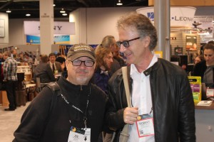 Rob Wallis, old friend, superb drummer and CEO of Hudson Music with Joe at NAMM.
