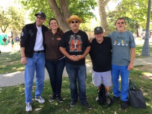 Earth Day Modesto CA 2016  with Ron West far right and the Saint Of J Street, John Black in the straw hat.