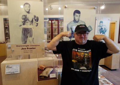 Muscles Joe at the Canastota NY USA Int'l Boxing Hall of Fame while on tour